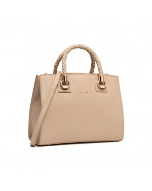 Borsa Donna a Mano Media Liu Jo Beige AA1171E008761310 Valigeria.it