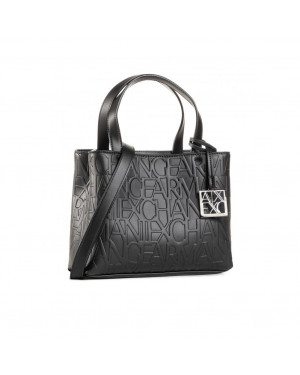 Borsa Donna Due Manici Armani Exchange Nero Valigeria.it