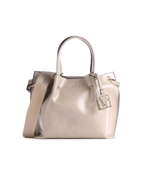 Borsa Donna Mano Armani Exchange Beige Valigeria.it