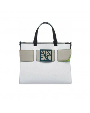 Borsa Donna Shopping Armani Exchange Bianco Valigeria.it