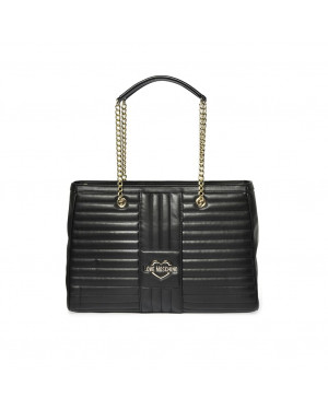 Borsa Donna Shopping Quadrata Love Moschino Nero JC4070PP1CLA1000 Valigeria.it