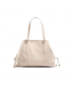 Borsa Donna Shopping Satchel Nero Beige Valigeria.it