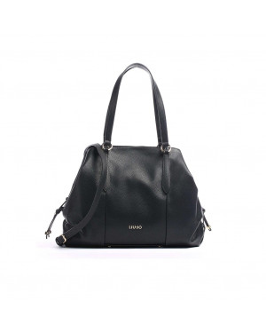 Borsa Donna Shopping Satchel Nero Liu jo Valigeria.itBorsa Donna Shopping Satchel Nero Liu jo Valigeria.it