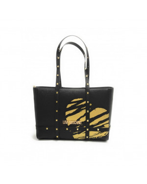 Borsa Donna Shopping Stampato Love Moschino Nero Giallo JC4076PP1CLG100B Valigeria.it