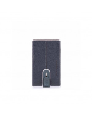 Porta Carte Credito Piquadro Black Square PP4825B3R Valigeria.it