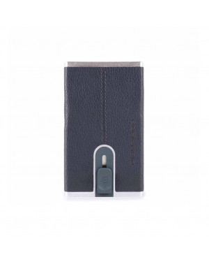 Porta Carte Credito Piquadro Black Square PP4891B3R Valigeria.it