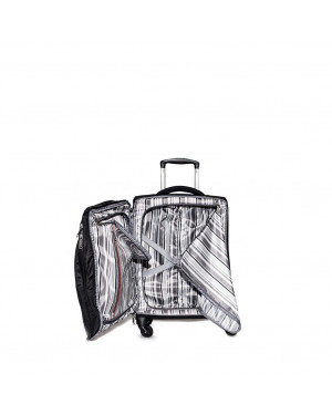 Trolley Morbido 55cm 4 Ruote Cabina | Avirex New York City | AVXNYC01-Black/Red