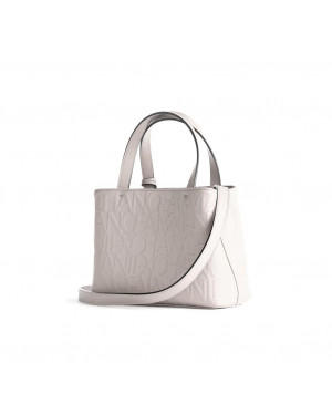 Borsa Donna Due Manici Armani Exchange Bianco Valigeria.it
