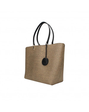 Borsa Donna Shopping Grande Borbonese Naturale Nero Valigeria.it